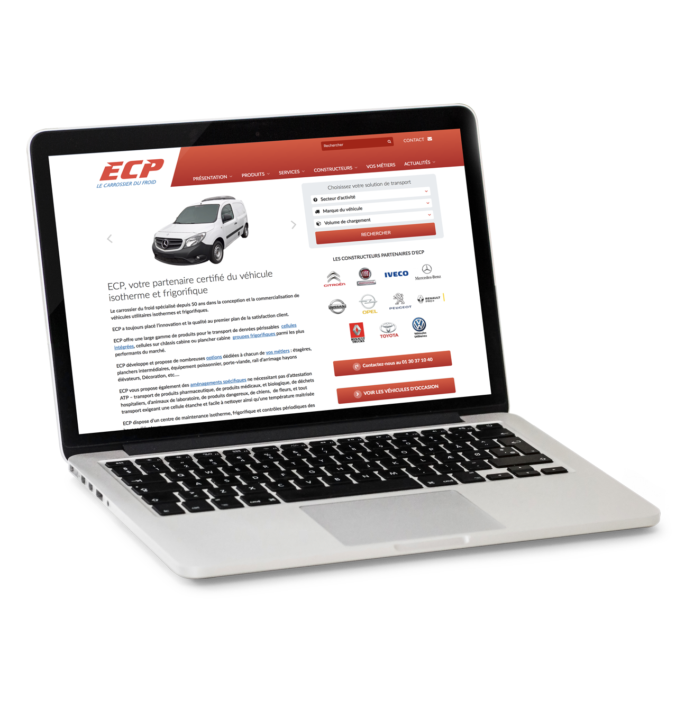 Site internet ECP - page accueil